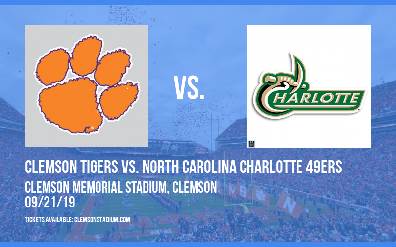 Clemson Tigers vs. North Carolina Charlotte 49ers at Clemson Memorial Stadium