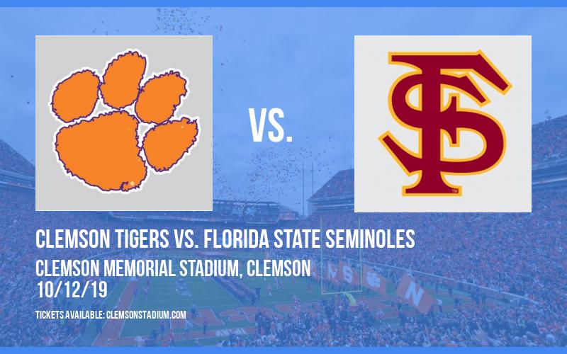 Clemson Tigers vs. Florida State Seminoles at Clemson Memorial Stadium