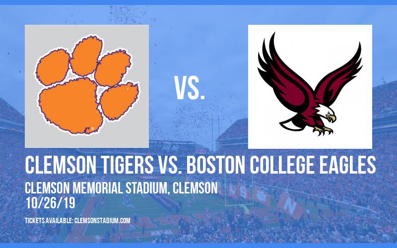 Clemson Tigers vs. Boston College Eagles at Clemson Memorial Stadium