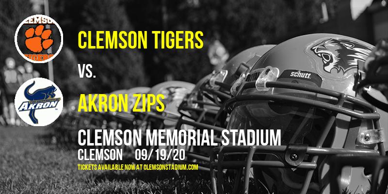 Clemson Tigers vs. Akron Zips at Clemson Memorial Stadium