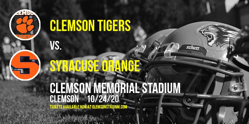Clemson Tigers vs. Syracuse Orange at Clemson Memorial Stadium