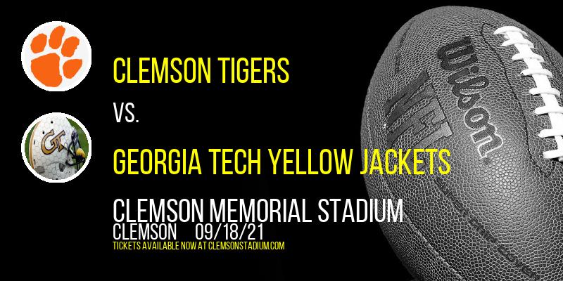 Clemson Tigers vs. Georgia Tech Yellow Jackets at Clemson Memorial Stadium