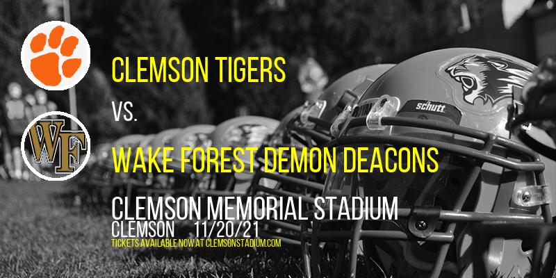 Clemson Tigers vs. Wake Forest Demon Deacons at Clemson Memorial Stadium